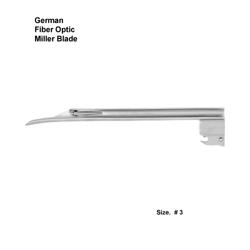 Fiber Optic German Miller Blade # 3