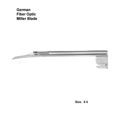 Fiber Optic German Miller Blade # 4