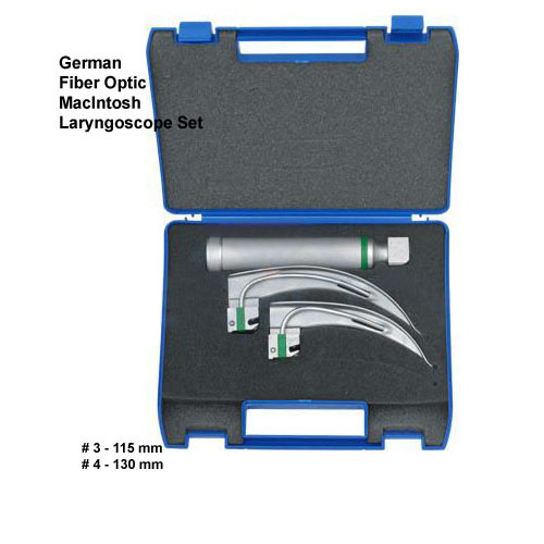 Fiber Optic MacIntosh Laryngoscope Set